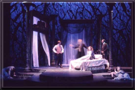 Dracula Set Design by Richard Finkelstein, Stage Designer