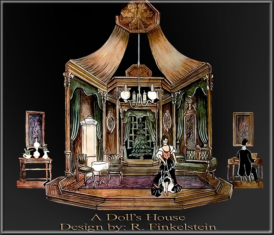 A Dolls Houce by Ibsen Set Design by Richard Finkelstein, Stage ...