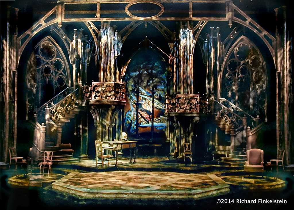 how to draw a set design for theatre